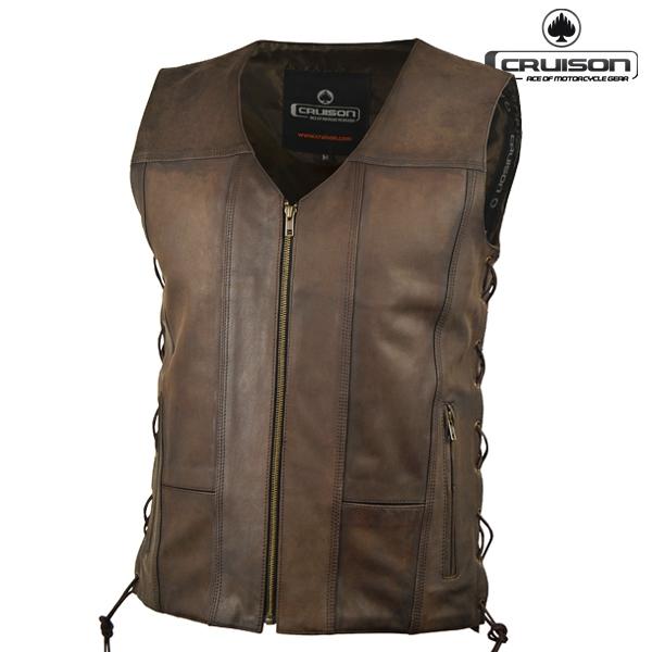 Moto oblečení - Vesta CRUISON RENEGADE BROWN