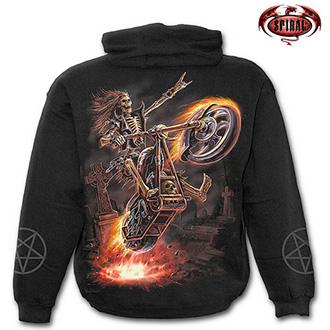 Trička, mikiny, košile - Mikina s kapucí pánská - SPIRAL Hell Rider