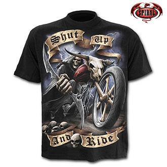 Moto oblečení - Tričko krátký rukáv pánské - SPIRAL Shut up and Ride