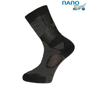 Moto oblečení - Nanosox An-Atomic - anatomické ponožky antracit