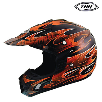 Dětské moto oblečení - Helma THH TX-12 FLAME ORANGE - dětská