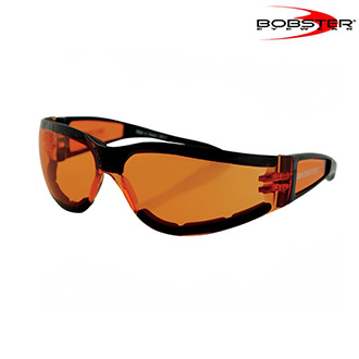Brýle a goggles - Brýle BOBSTER SUNGLASS SHIELD II Black/Amber