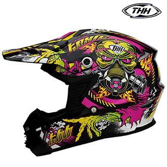 Dětské moto oblečení - Helma THH TX-15 FLUORESCENT PINK - dětská