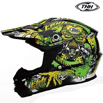 Dětské moto oblečení - Helma THH TX-15 FLUORESCENT GREEN - dětská