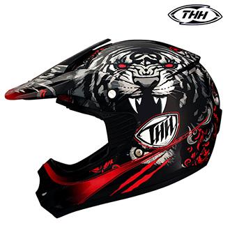 Dětské moto oblečení - Helma THH TX-11 RED - dětská