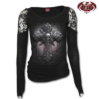 Trička, mikiny, košile - Tričko dlouhý rukáv dámské - SPIRAL Crucifix