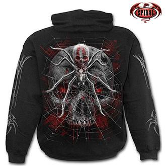 Trička, mikiny, košile - Mikina s kapucí pánská - SPIRAL Spider Skull