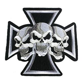 Volný čas a dárky - Nášivka Punk Skulls Cross malá