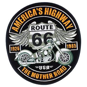 Volný čas a dárky - Nášivka Route 66 velká