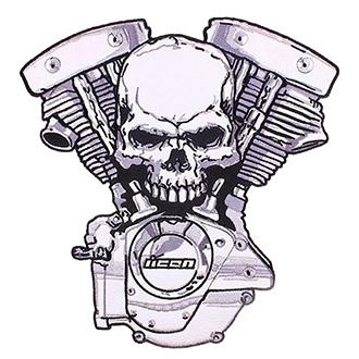 Volný čas a dárky - Nášivka Skull Motor II velká