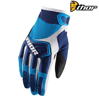 Dětské moto oblečení - MX rukavice dětské - THOR SPECTRUM S8Y NAVY/BLUE