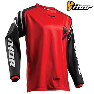 Dětské moto oblečení - dětský dres THOR YOUTH SECTOR RED