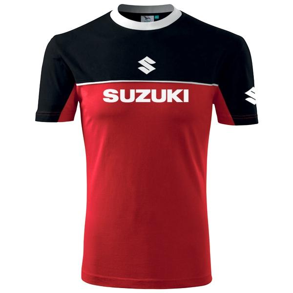 Moto Tričko Suzuki pánské červeno-černé  43fa19839e