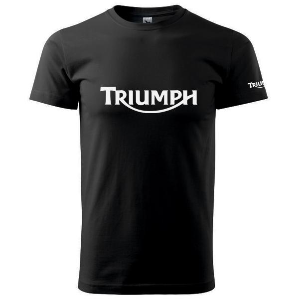 Moto Tričko Triumph pánské černé  ef9c73f4ae