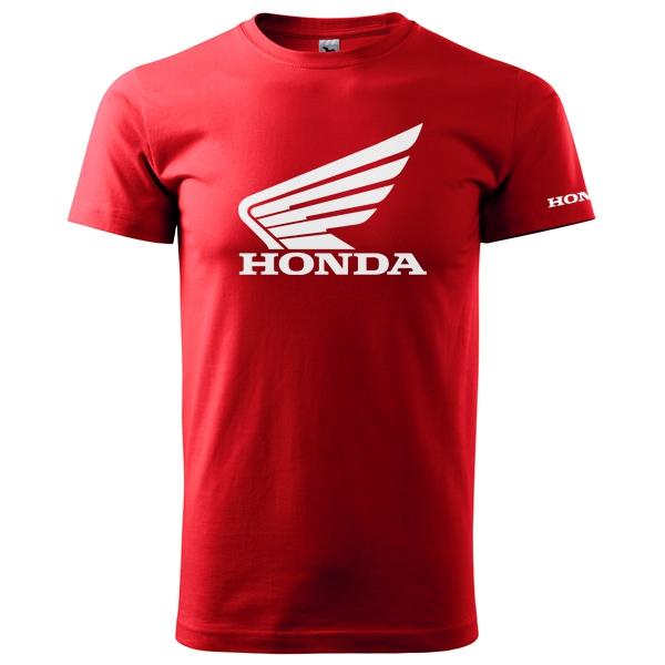 7456c1430cd Moto Tričko Honda pánské červené
