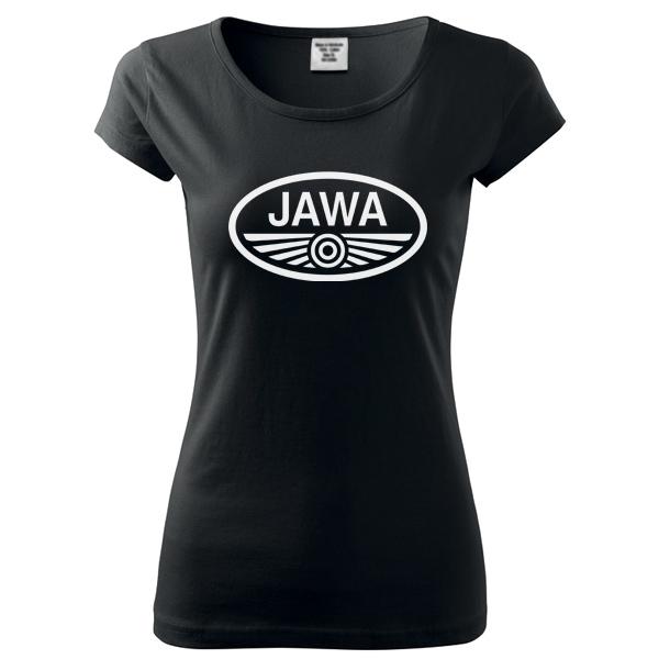 Moto Tričko Jawa dámské černé  d8c3322513