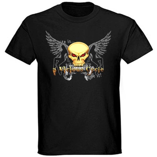 Trička, mikiny, košile - Tričko krátký rukáv - A Vicious Cycle