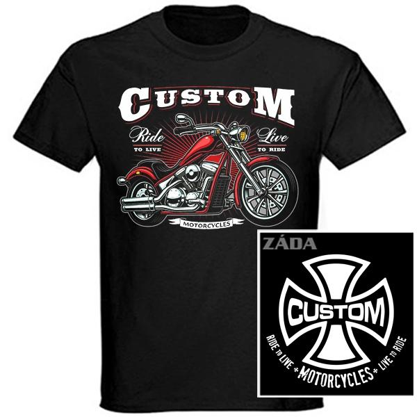 Trička, mikiny, košile - Tričko krátký rukáv - Custom Motorcycles
