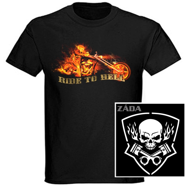 Trička, mikiny, košile - Tričko krátký rukáv - Ride to Hell