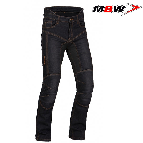 Moto oblečení - Kalhoty MBW KEVLAR DIEGO BLACK