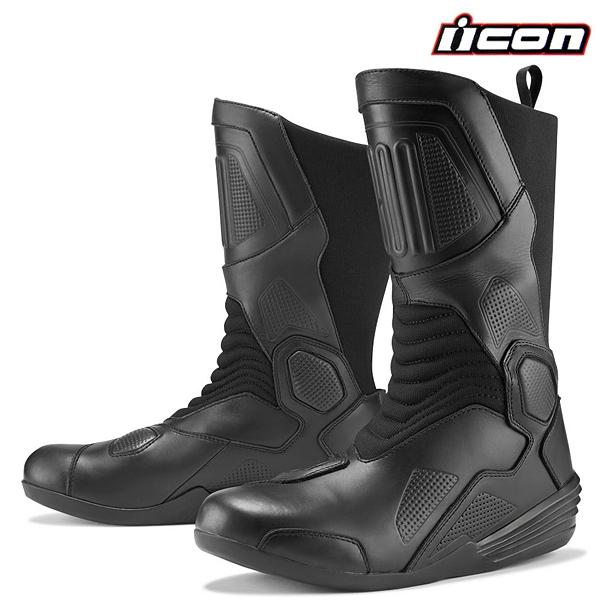 Moto oblečení - Boty ICON JOKER WP BLACK