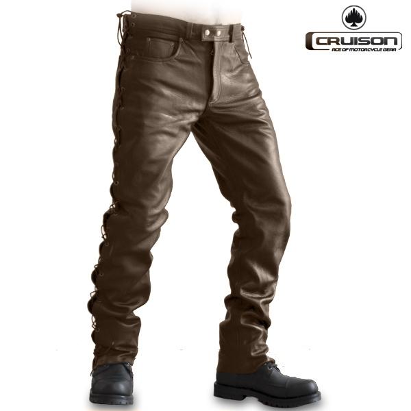 Moto oblečení - Kalhoty CRUISON LACE JEANS BROWN