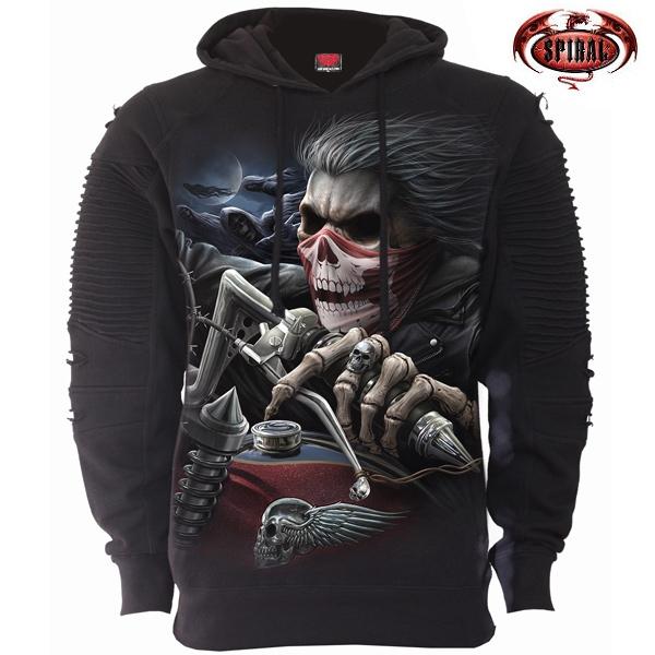 Trička, mikiny, košile - Mikina s kapucí pánská - SPIRAL Soul Rider