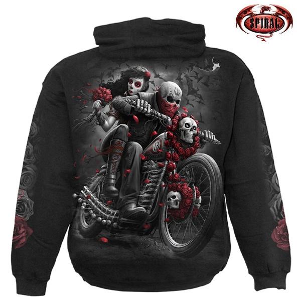 Moto oblečení - Mikina s kapucí pánská - SPIRAL DOTD Bikers
