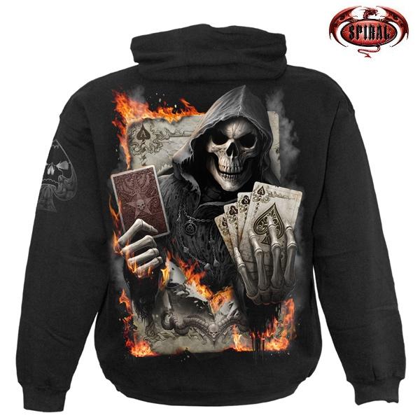 Moto oblečení - Mikina s kapucí pánská - SPIRAL Ace Reaper