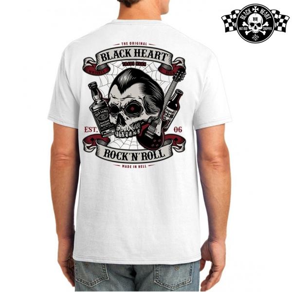 Moto oblečení - Tričko pánské BLACK HEART Beer and Whiskey WHT