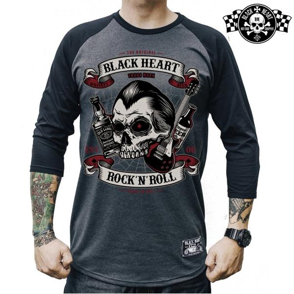 Moto oblečení - Triko pánské BLACK HEART Beer and Whiskey
