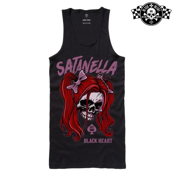 Moto oblečení - Tílko dámské BLACK HEART Satanella