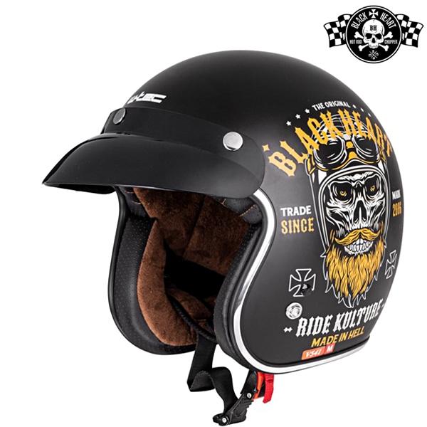 Moto oblečení - Helma BLACK HEART V541 Ride Kulture