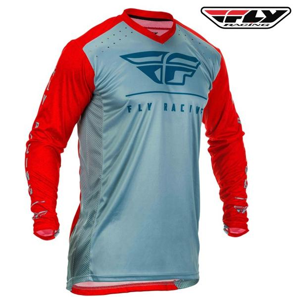 Motokros oblečení - Dres FLY RACING Lite 2020 (červená/modrá)