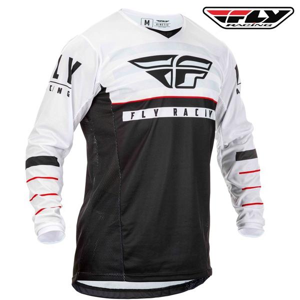 Motokros oblečení - Dres FLY RACING Kinetic K120 2020 (černá/bílá)