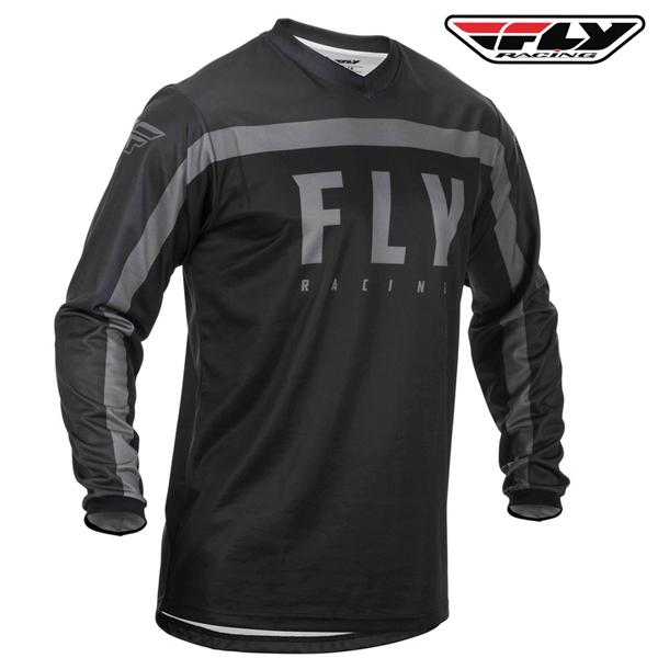 Motokros oblečení - Dres FLY RACING F-16 2020 (černá/šedá)