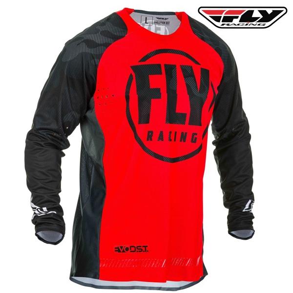 Motokros oblečení - Dres FLY RACING Evolution 2020 (černá/červená)