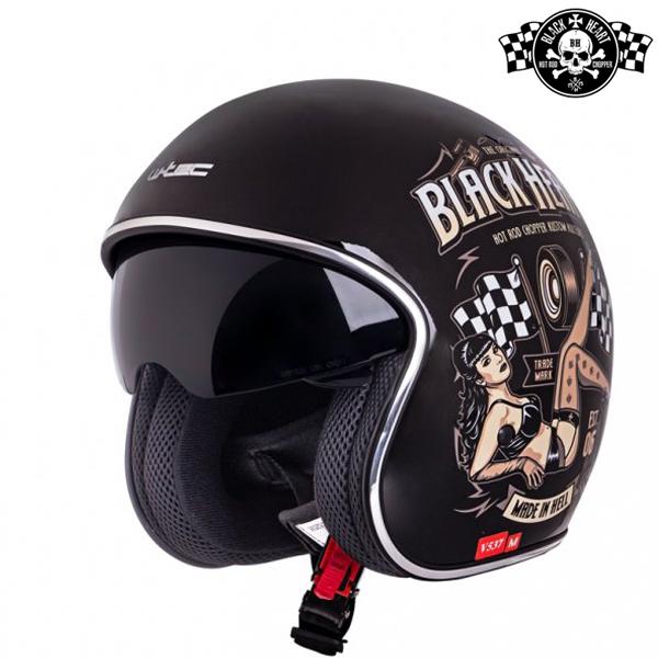Moto oblečení - Helma BLACK HEART V537 Melisa