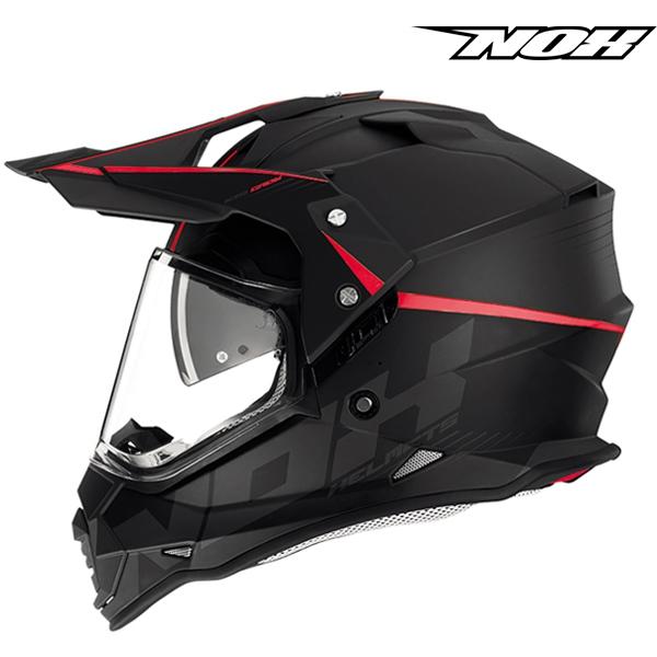 Moto oblečení - Helma NOX N312 CROW červená