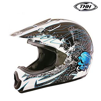 Dětské moto oblečení - Helma THH TX-10 SKULL BLUE - dětská
