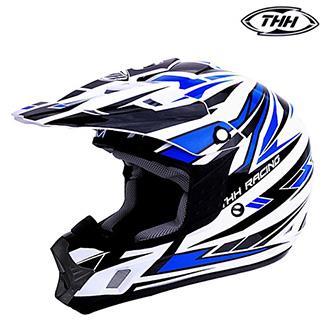 Dětské moto oblečení - Helma THH TX-12 RACING BLUE - dětská