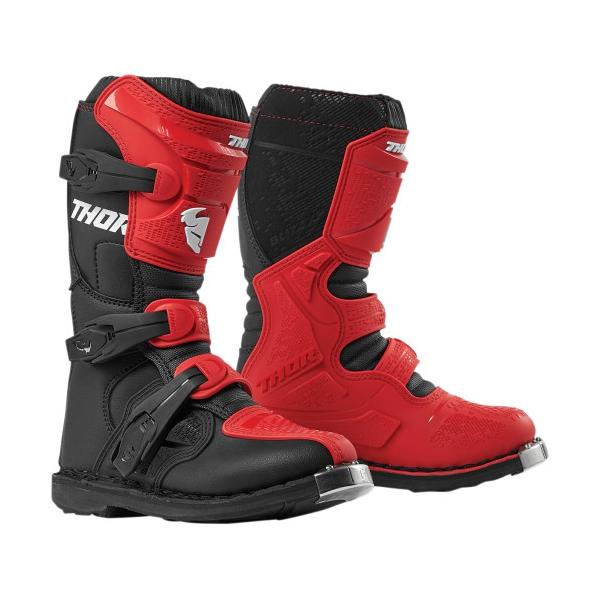Dětské oblečení - Dětské boty THOR YOUTH BLITZ XP RED/BLACK