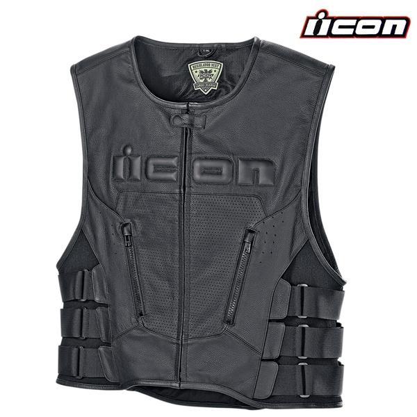 Vesta ICON REGULATOR D3O - kožená vesta na motorku  151ce39ecc