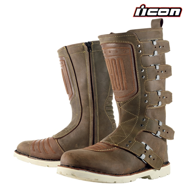 409c69817ef Boty ICON ELSINORE OILED BROWN - stylové boty na motorku