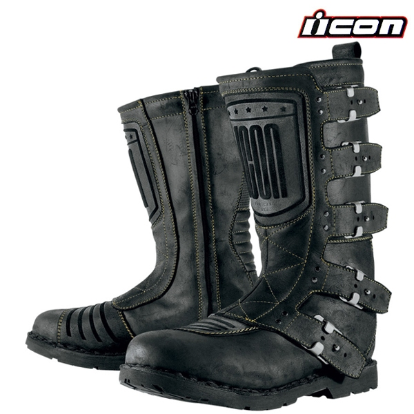 60150c67001 Boty ICON ELSINORE JOHNNY BLACK - stylové boty na motorku