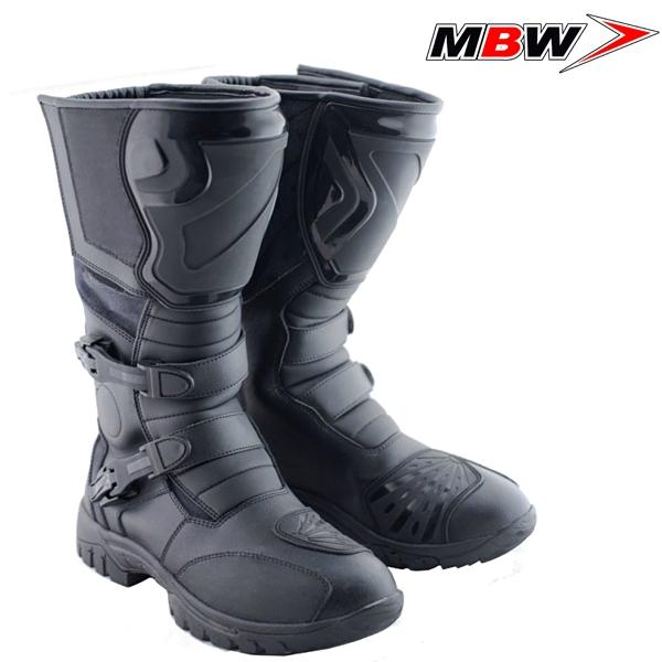 8f451e5b86e Boty MBW BRAVO - vysoké cestovní kožené boty