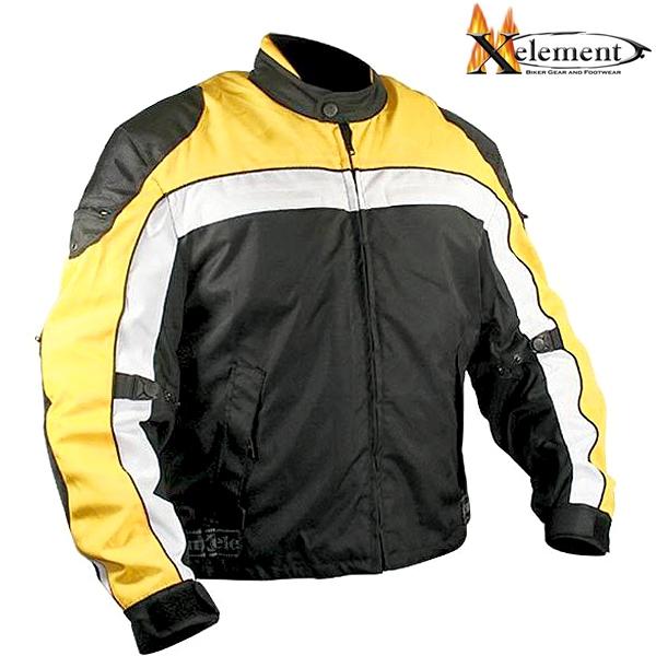 Lime Green Motorcycle Jacket Bunda XELEMENT EXHAUST RIDER YELLOW - odolná textilní moto bunda ...