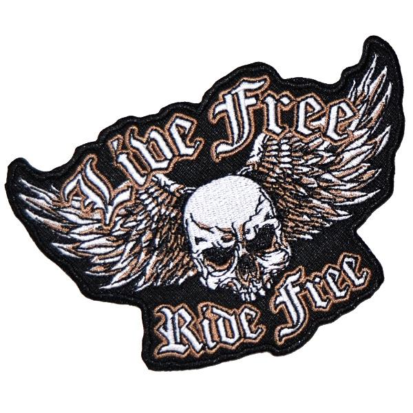 Volný čas a dárky - Nášivka Ride Free malá bc3e90418e