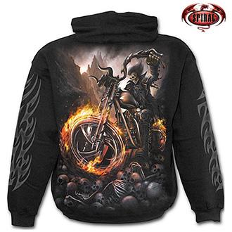 Mikina s kapucí pánská - SPIRAL Wheels of Fire