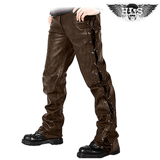 Kalhoty HLS LACE JEANS BROWN